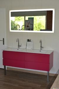 création salle de bain avec meuble et miroir HALO SANIJURA par Domarco Castelmaurou, l'union, Saint-jean, Toulouse, Colomiers, Fenouillet